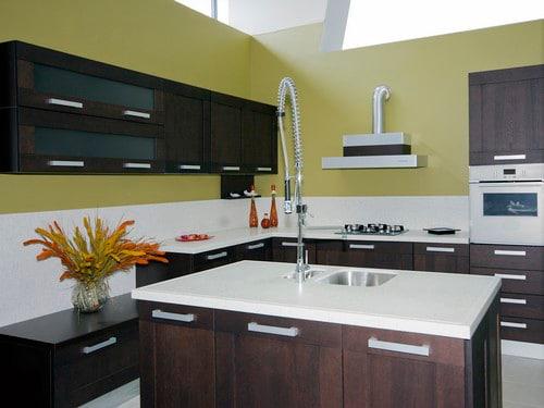 the modern kitchen interior close up detail photo - Custom Design Kitchens